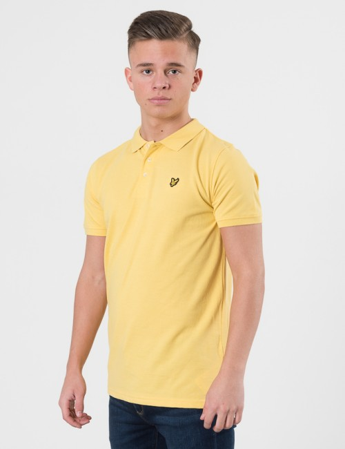 Lyle & Scott Classic Polo Shirt Gul Pike/Rugbytröjor till Kille