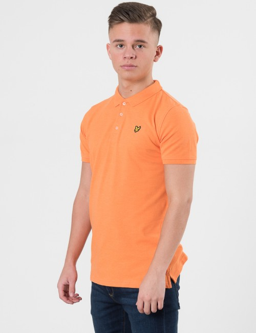 Lyle & Scott Classic Polo Shirt Orange Pike/Rugbytröjor till Kille