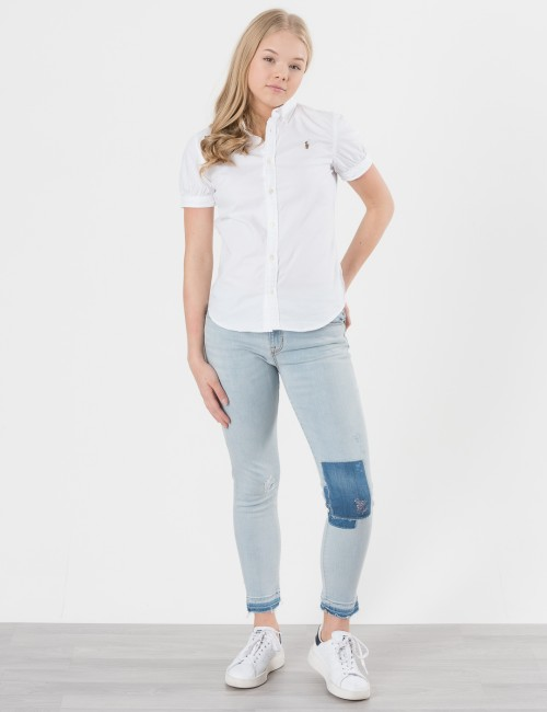 Ralph Lauren EMBROIDED DENIM BOTTOMS Blå Jeans till Tjej