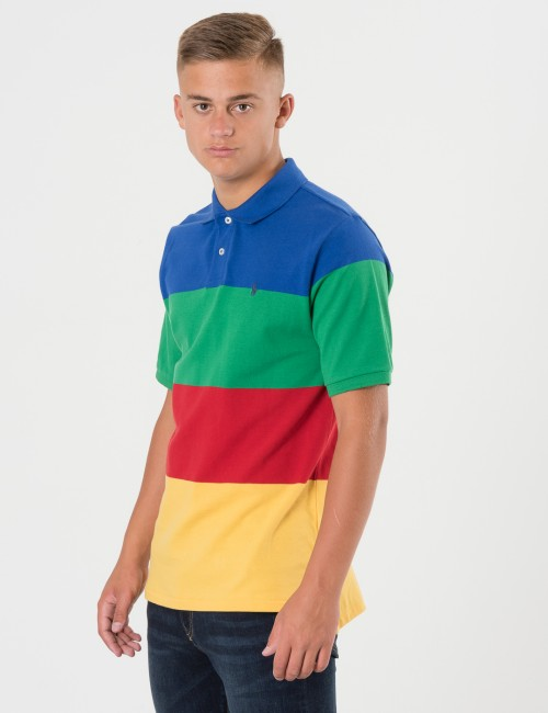 Ralph Lauren STRIPE POLO Blå Pike/Rugbytröjor till Kille