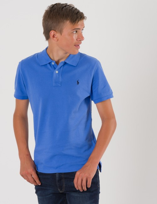 Ralph Lauren SLIM FIT POLO Blå Pike/Rugbytröjor till Kille