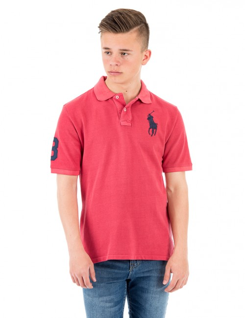 Ralph Lauren SHORT SLEEVE POLO SHIRT Röd Pike/Rugbytröjor till Kille