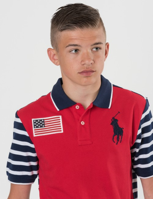 Ralph Lauren PIECED POLO Röd Pike/Rugbytröjor till Kille