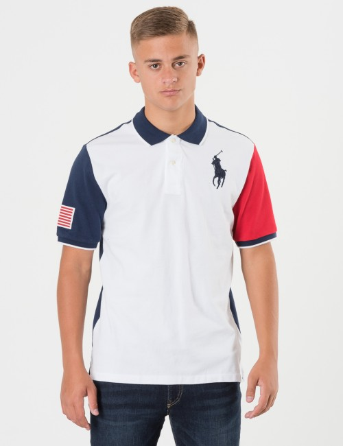 Ralph Lauren COLORBLOCK POLO Vit Pike/Rugbytröjor till Kille