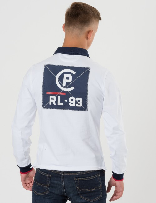 Ralph Lauren LONG SLEEVE RUGBY Vit Pike/Rugbytröjor till Kille
