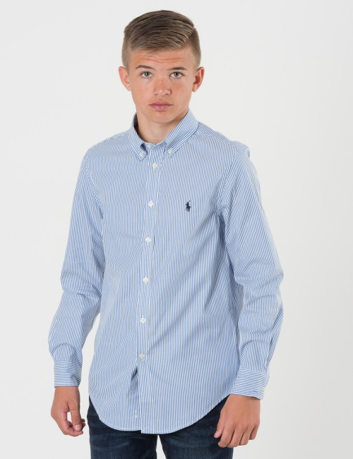 Om Ralph Lauren barnkläder - STRIPED COTTON SHIRT