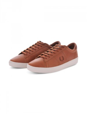 Fred Perry SPENCER WAXED LTH Brun Sneakers till Kille