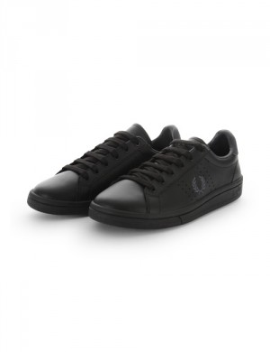 Fred Perry PARKSIDE LEATHER Svart Sportskor till Kille