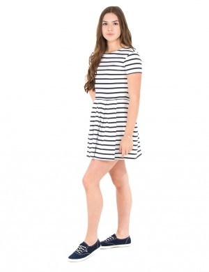O. BRETON STRIPE SS DRESS