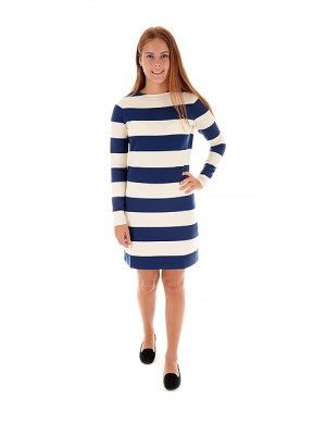 O. BLOCKSTRIPED DRESS