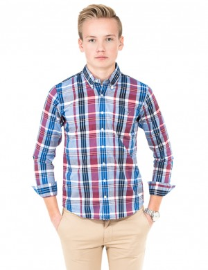 O. MADRAS PLAID BD SHIRT