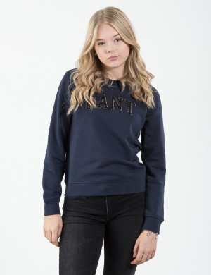 OP1.GANT GOLD CHENILLE C-NECK SWEAT