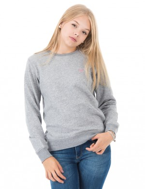 O. CONTRAST LOGO C-NECK SWEAT
