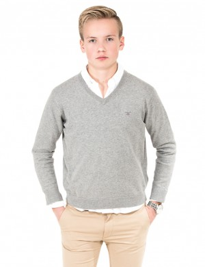 O. LT WT COTTON V-NECK