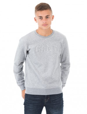 O. GANT EMBOSSED C-NECK SWEAT
