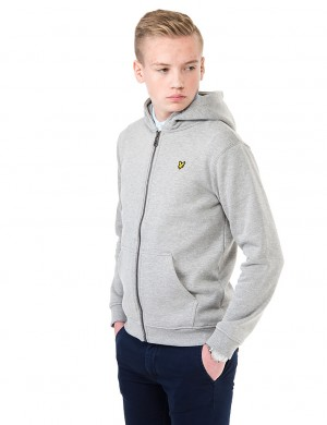 Marl Zip Through Fleece Hoodie
