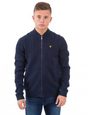 Cable Zip Up Jumper