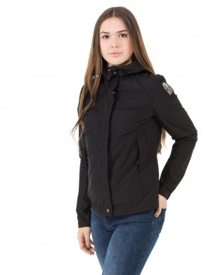 PJS Girl 10-YL Short Parka Fly Black