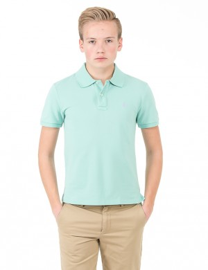 Ralph Lauren CUSTOM FIT POLO Grön Pike/Rugbytröjor till Kille