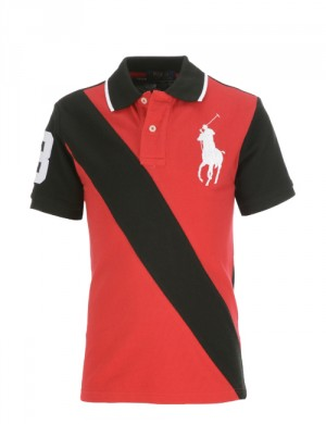 BANNER-STRIPED POLO
