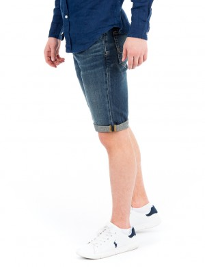 ROLLED SHORT-BOTTOMS-DENIM