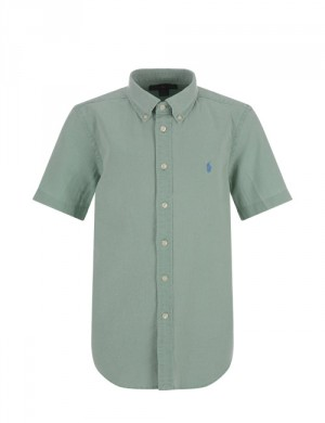 Ralph Lauren SHORT SLEEVE BUTTON DOWN SHIRT Grön Skjortor till Kille