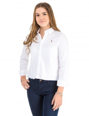 SOLID OXFORD-TOPS-SHIRT