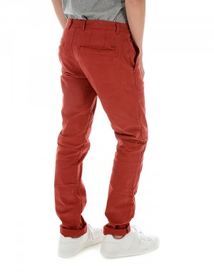 Scotch Shrunk SLIM FIT WASHED CHINO PANTS Röd Byxor till Kille