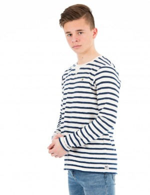 Yarn-dyed bretonse stripe tee in special quality
