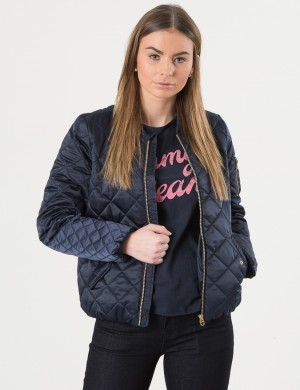 THKG QUILTED BOMBER JACKET