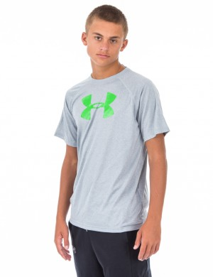 Läs mer om Under Armour UA TECH BIG LOGO SS Grå T-shirt/Linnen till Kille