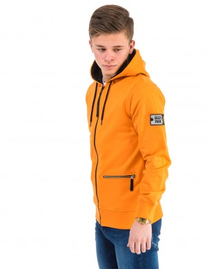 Läs mer om WAY INK YOUNGSTER ZIP HOOD Orange Huvtröjor till Kille
