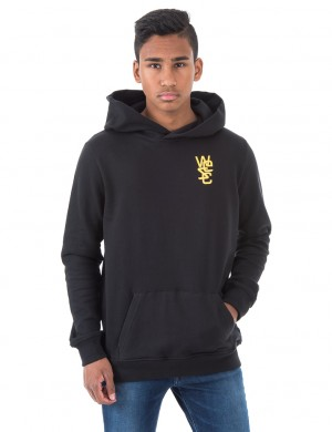 Overlay chest jr hooded sweatshirt