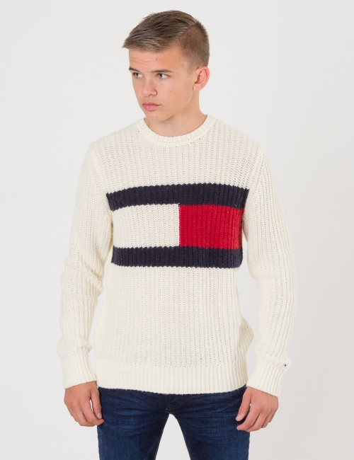 Tommy Hilfiger AUTHENTIC FLAG SWEAT Vit Tröjor/Cardigans till Kille